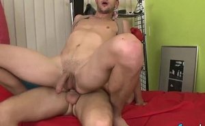 Sexy Nick Daniels tempts John Parker into a hot gay sex