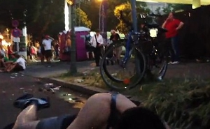 Public piss during street festival Manacle 6
