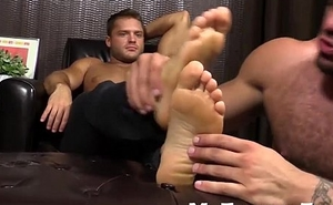 Tyrell loves his feet wet and adored off out of one's mind hairy Ricky