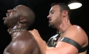 interracial black guy gets fucked by hot muscled white stud