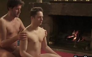 Male ass fingering massage