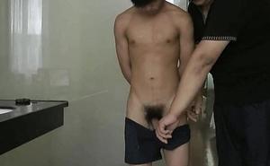 Handscuffed Chaps Handjob