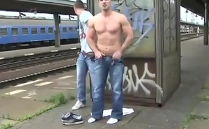 Gay Fuck Outdoor Exhibitionists At Train Station