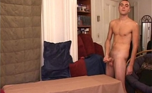 Solo straight punk droplets massive cumload