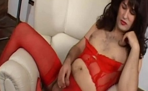 Jerking my cock while crossdressing is my ultimate fantasy