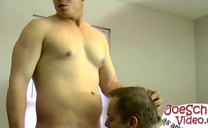 Joe acquires on that big masked boner and acquires his cock out
