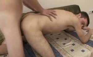 Horny Gay Sofa Anal Fuck Love Creampie Drop