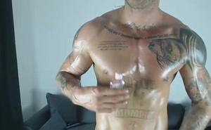 Oiled up with my own Cum
