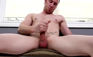 Muscular redhead stud tugging his bigdick