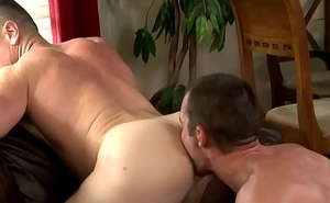 Sexy hunk receives ass rammed