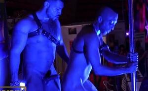 Spanish gays fuck in public