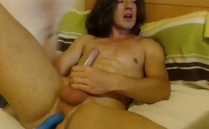 hot italian stud with anal play