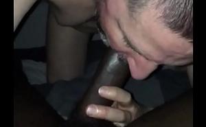 Sissy gay sucking big black cock