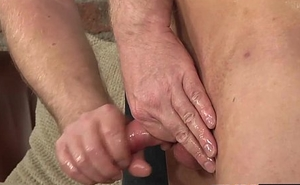 Naked and blindfolded Casper Ellis never had his cock edged