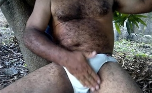 very nice hairy daddy stroking and cumming