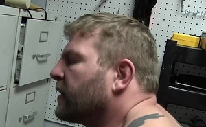 Colby lathers Darins fat dick and fuck