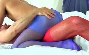 unshiny and adam in pantyhose