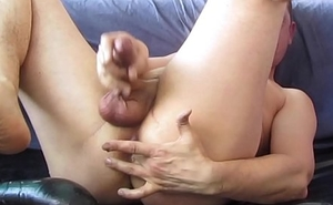 Poppersmask: guts milking and cum