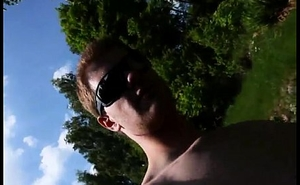 Danish Nudist Boy Is Naked Outdoors (Holiday) &amp_ Fun Play With Cock = Cumshot