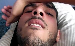 Handsome latino gets  ass eaten
