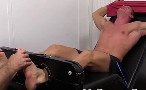 Big muscled Viggo strapped down be advantageous to occupy torture