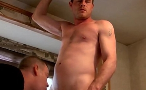 Keith obtaining a tugjob and blowjob wean away from a straight dude