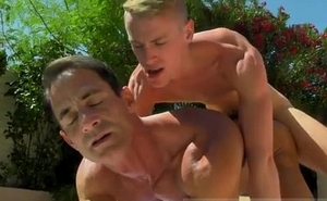 Gay tongue ring porn Daddy Poolside Prick Loving