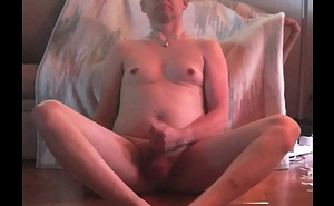 Boy jerking off nude home on floor