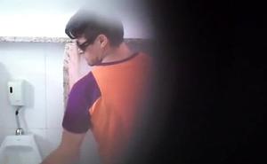 Hot Spy Cam Hung Bathroom Blowjob