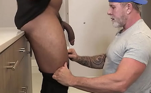 Daddy Wants His Protein Shake - Trent Cougar with an increment of Ray Diesel