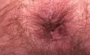 Lean hairy Daddy shows his man hole close-RoughHairy.com