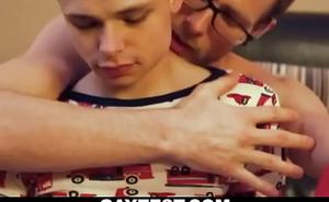 Cute tight ass boy riding daddy's big dick-GAYZEST XXX video free