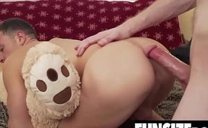 Teddy bear tiny twink boy gets tight hole unconvincing by big unearth daddy-FUNSIZEBOYS.NET