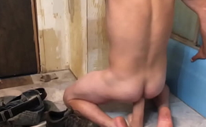 Sissy old bean loves riding a big cock for cum blast
