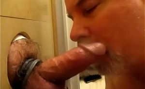 Military Man's Quick BJ And Fat Nutt Convenient My Glory Hole.