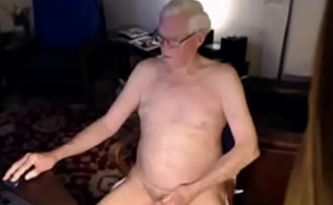 white haired wanker